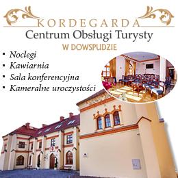Kordegarda - centrum obsługi turysty w dowspudzie oferuje: noclegi, kawiarnie, kameralne uroczystośc