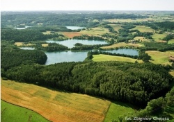 Zdjęcie lotnicze - Suwalski Park Krajobrazowy