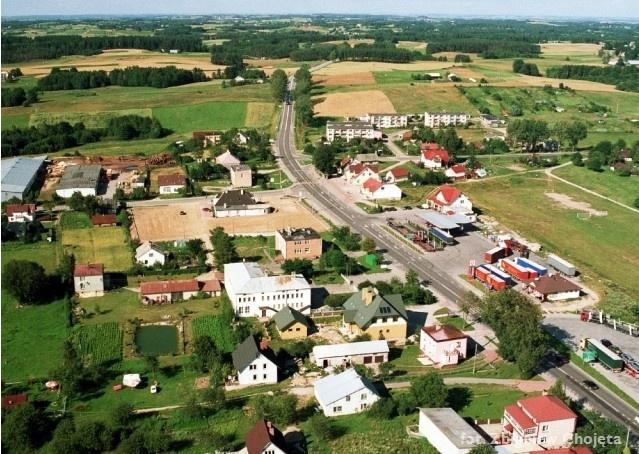 Zdjęcie lotnicze - widok na miejscowość Szypliszki - Kliknięcie spowoduje wyświetlenie powiększenia zdjęcia