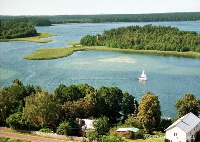 Zdjęcie lotnicze - jezioro Wigry - Kliknięcie spowoduje wyświetlenie powiększenia zdjęcia