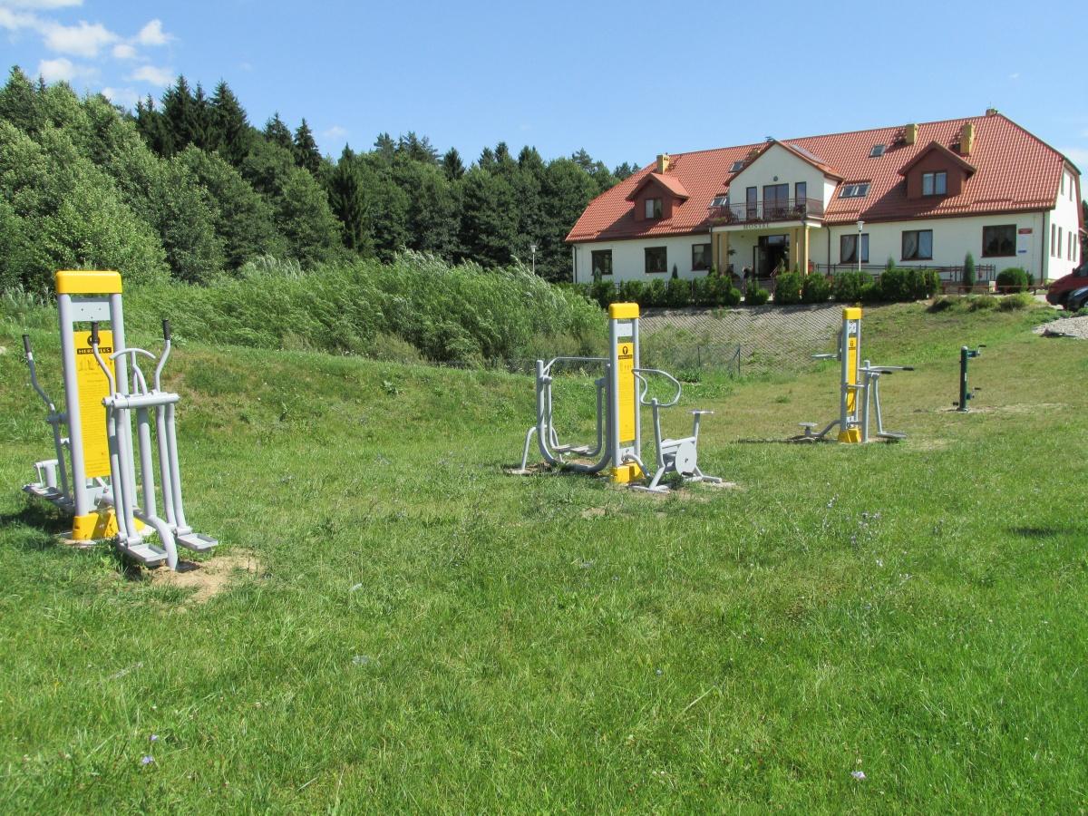 Urządzenia do ćwiczeń na tle zieleni - Kliknięcie spowoduje wyświetlenie powiększenia zdjęcia