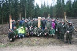 Międzynarodowe sadzenie lasu w Dzierwanach