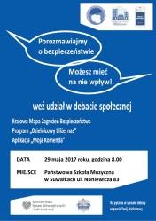 Porozmawiajmy o bezpieczeństwie - debata społeczna