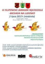 III Filipowski Jarmark Rękodzieła - Biesiada na ludowo