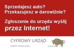 Zawiadomienie o zbyciu pojazdu - Cyfrowy Urząd Wrót Podlasia