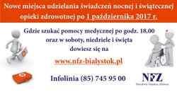 Nowe miejsca udzielania nocnej i świątecznej opieki zdrowotnej  w powiecie suwalskim