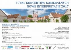I Cyklu koncertów kameralnych - Nowe inspiracje 2017 - III Koncert Kameralny Koncert Papieski - Laudate Dominum