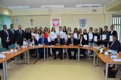 Stypendia za wyróżniające wyniki w nauce  przyznane przez Zarząd Powiatu w Suwałkach