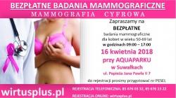 Bezpłatna mammografia dla mieszkanek powiatu suwalskiego