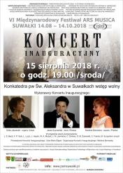 Koncert inauguracyjny Festiwalu ARS MUSICA