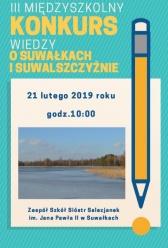 III Międzyszkolnym Konkursie Wiedzy o Suwałkach i Suwalszczyźnie