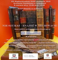 XII Międzynarodowy Dzień Archiwów 2019 - Archiwum Państwowe w Suwałkach