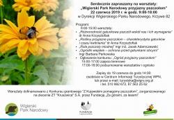 """Zaproszenie na warsztaty """"Wigierski Park Narodowy przyjazny pszczołom"""""""