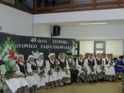 """Informacja z jubileuszu 40-lecia działalności  zespołu """"Zajączkowiaki"""" z Zajączkowa"""