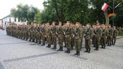 Żołnierze I Podlaskiej Brygady Wojsk Obrony Terytorialnej zaprzysiężeni