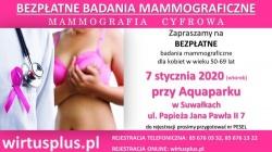 Bezpłatne badania mammograficzne - 7 stycznia 2020 r.
