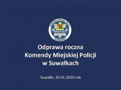 Podsumowanie 2019 roku przez suwalskich policjantów