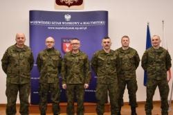 Słuchacze i studenci Akademii Sztuki Wojennej z Warszawy na ćwiczeniach na Suwalszczyźnie