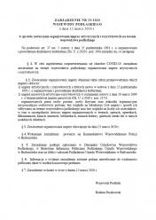Zarządzenie Wojewody Podlaskiego z dnia 12 marca 2020 r. w sprawie zawieszenia organizowania imprez artystycznych i rozrywkowych