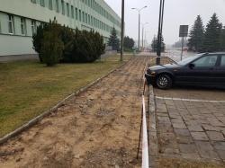 Remont chodnika przy siedzibie Starostwa Powiatowego w Suwałkach