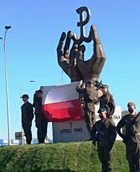 Odsłonięcie i poświęcenie pomnika ofiar Obławy Augustowskiej z 1945 roku w Sokółce