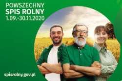Powszechny Spis Rolny – 01.09 – 30.11.2020