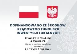 Rządowy Fundusz Inwestycji Lokalnych – dotacje dla gmin i samorządu Powiatu Suwalskiego
