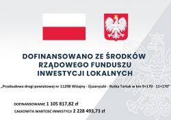 Podpisanie umowy na przebudowę drogi powiatowej nr 1129B Wiżajny – Ejszeryszki – Rutka Tartak