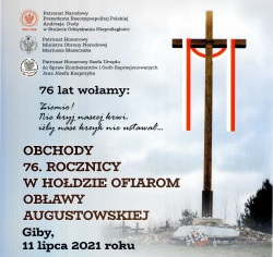 Zaproszenie na Obchody 76 Rocznicy w Hołdzie Ofiarom Obławy Augustowskiej