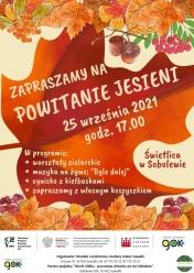 Zaproszenie na Powitanie Jesieni w Świetlicy w Sobolewie