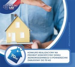 Konkurs na projekt koncepcyjny domu jednorodzinnego o powierzchni zabudowy do 70 m2